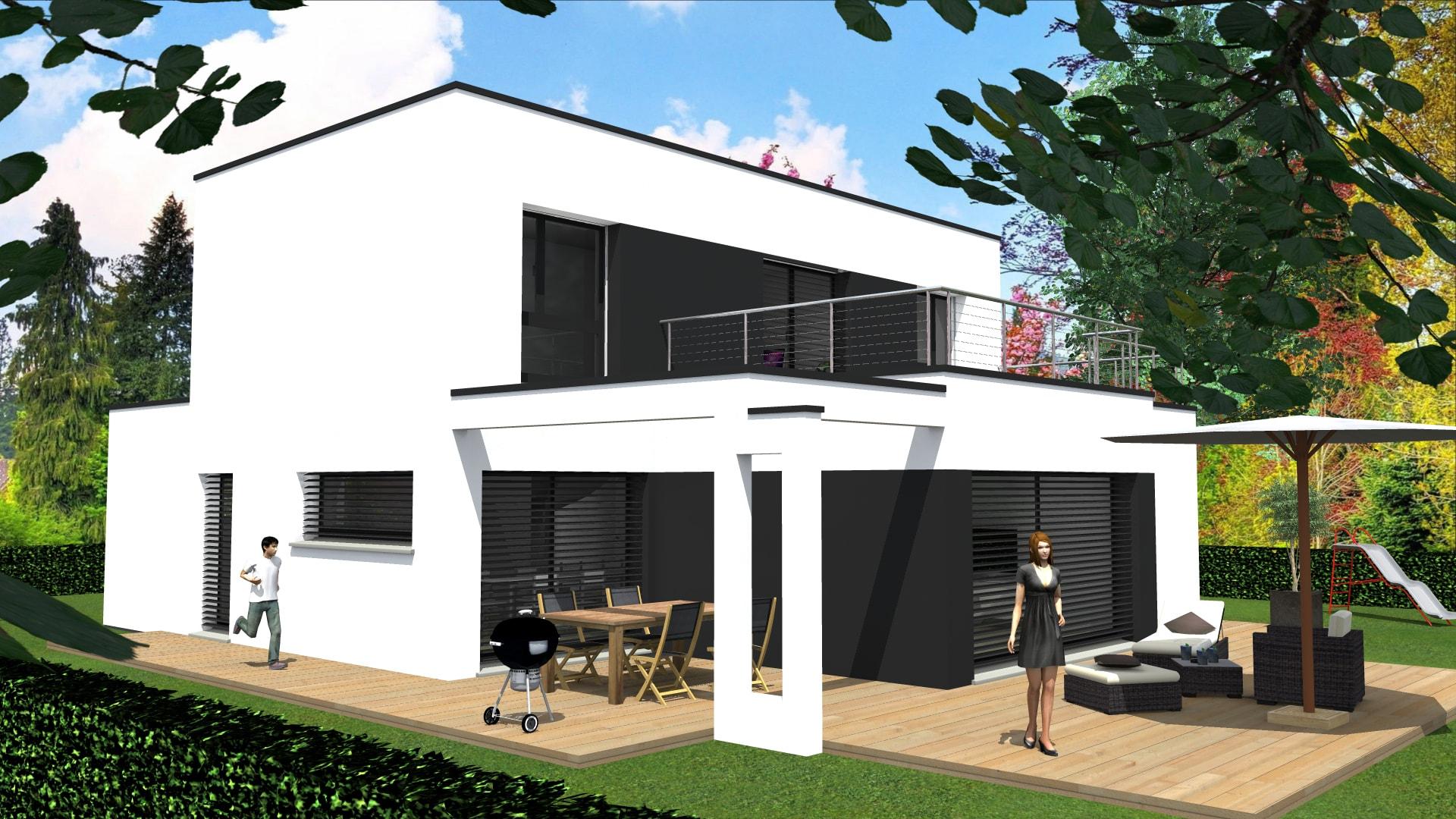Constructeur maison contemporaine haut rhin for Constructeur maison moderne toit plat