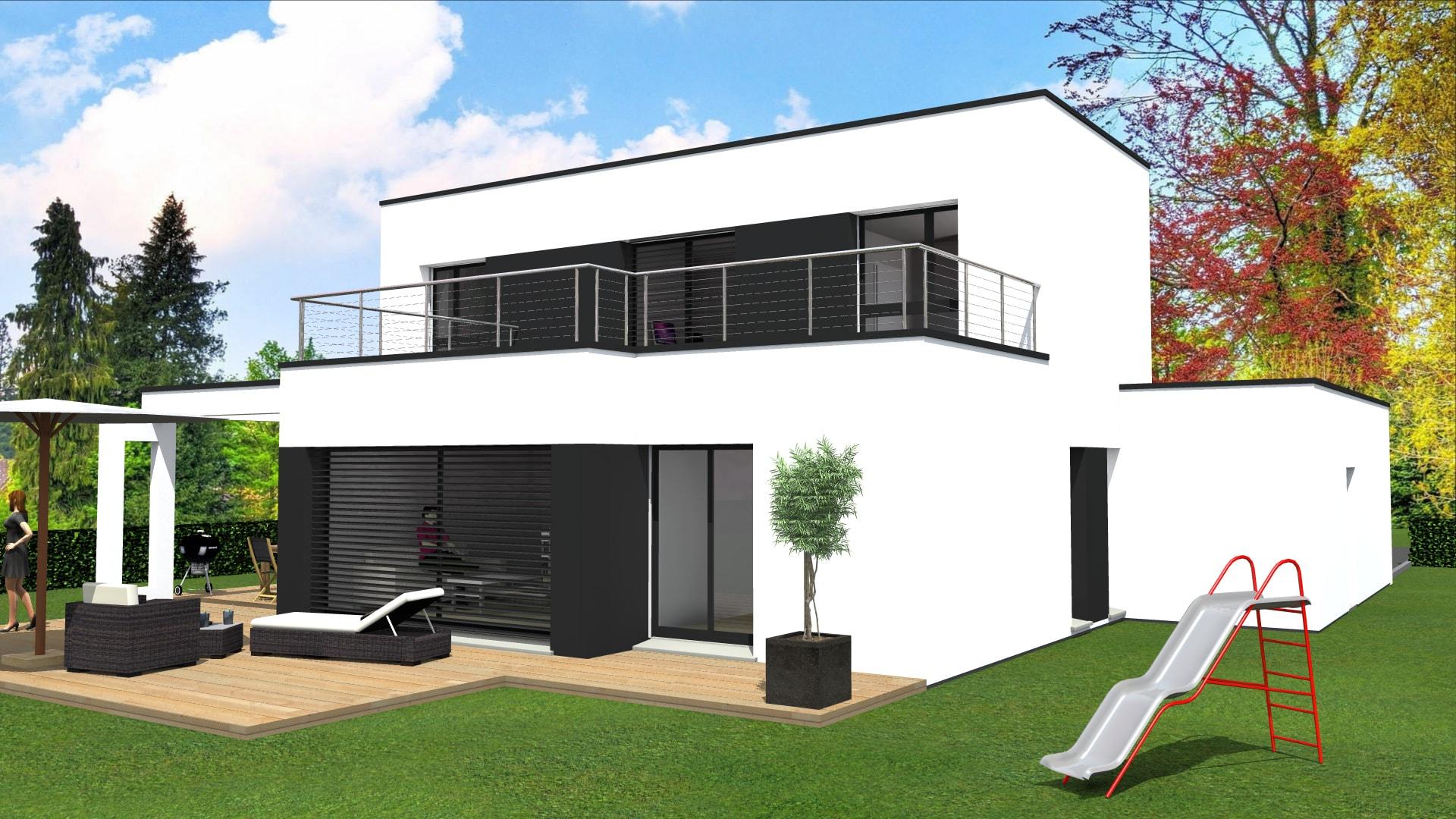 cabinet de maitrise d oeuvre c 178 projet d une maison contemporaine 100 toit plat dans le haut