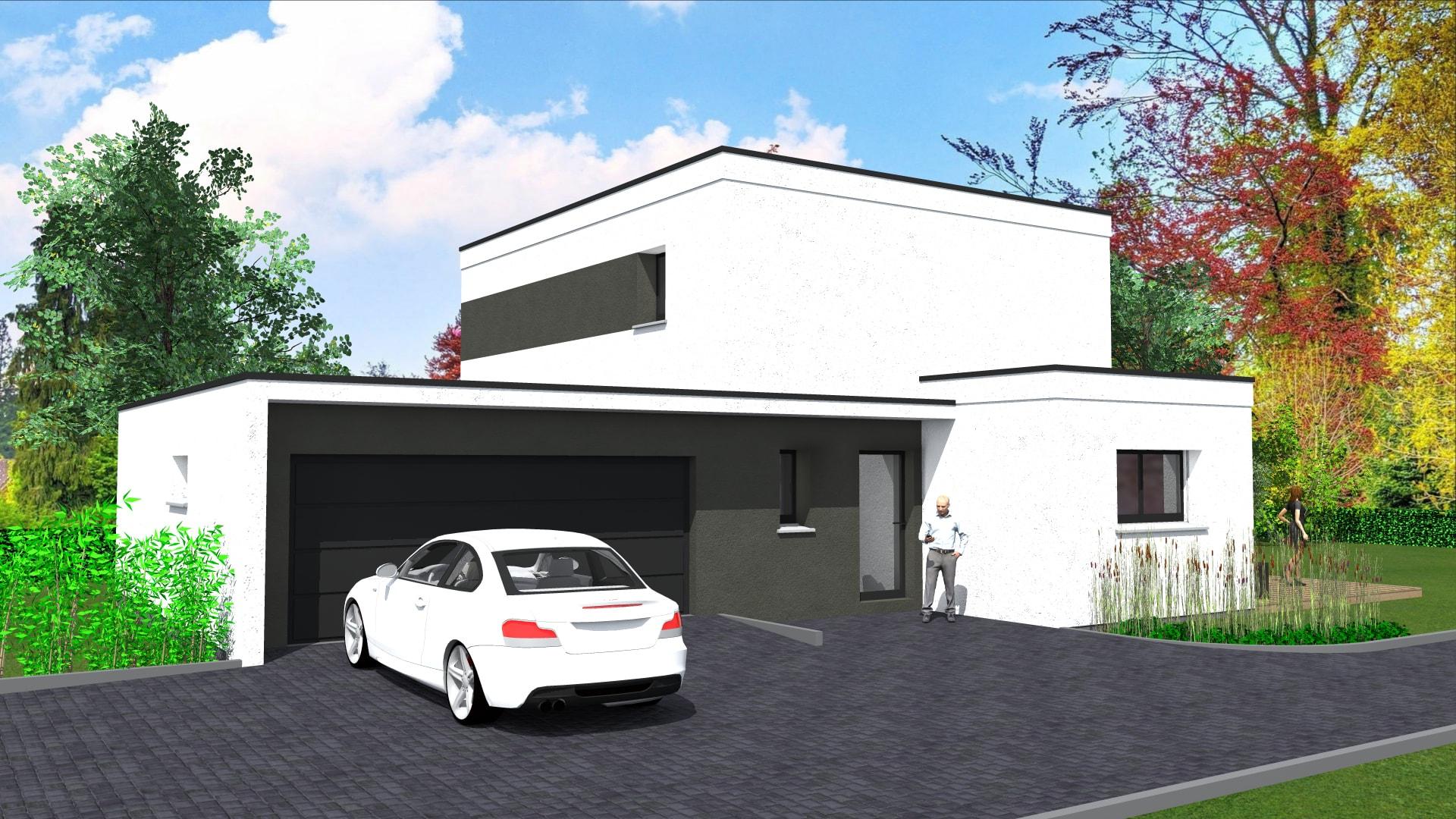 Cabinet de maitrise d\'oeuvre C²   Maisons moderne toit plat 100 ...