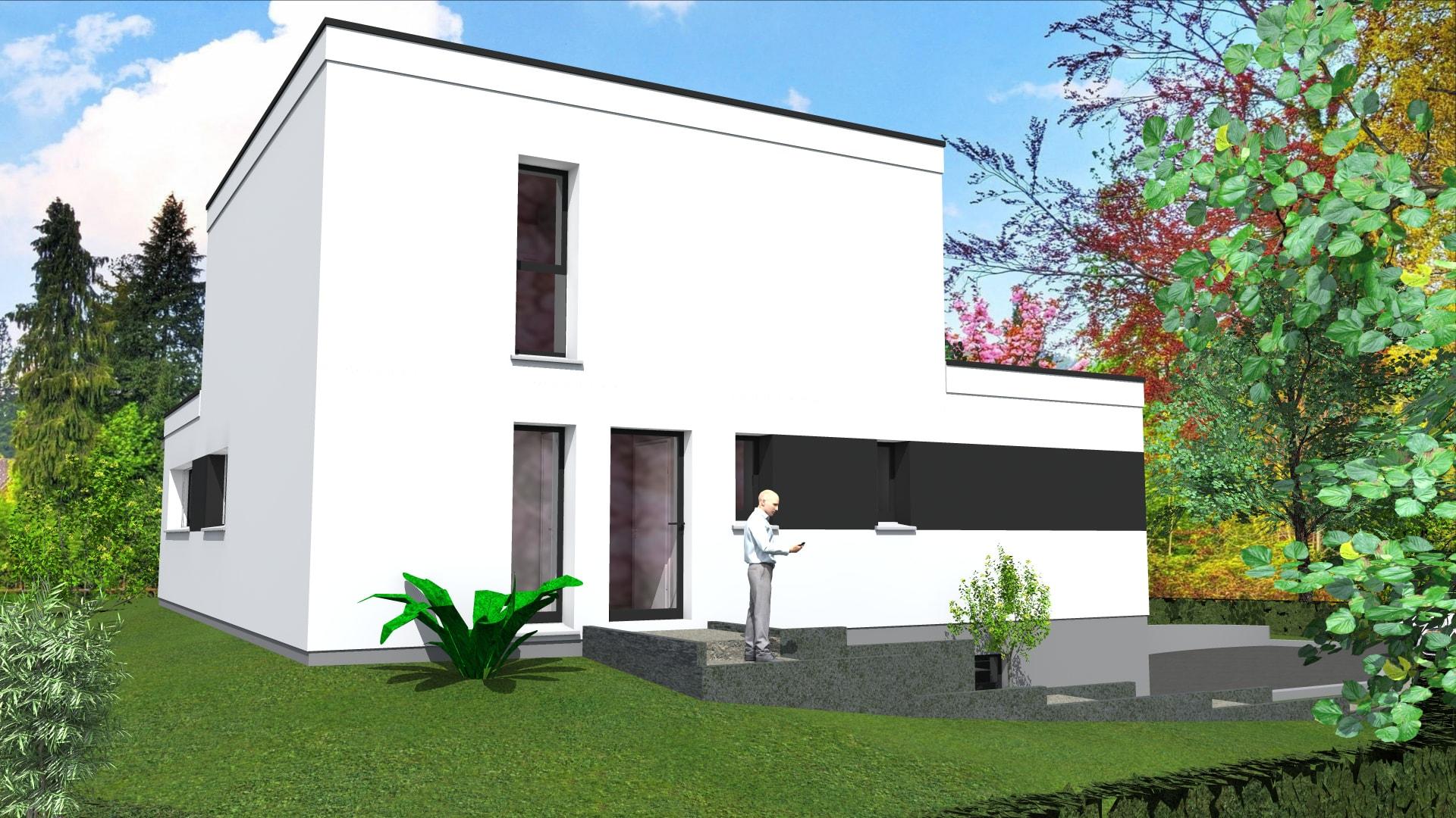 cabinet de maitrise d oeuvre c 178 maison contemporaine en toit plat sur hundsbach haut rhin 68