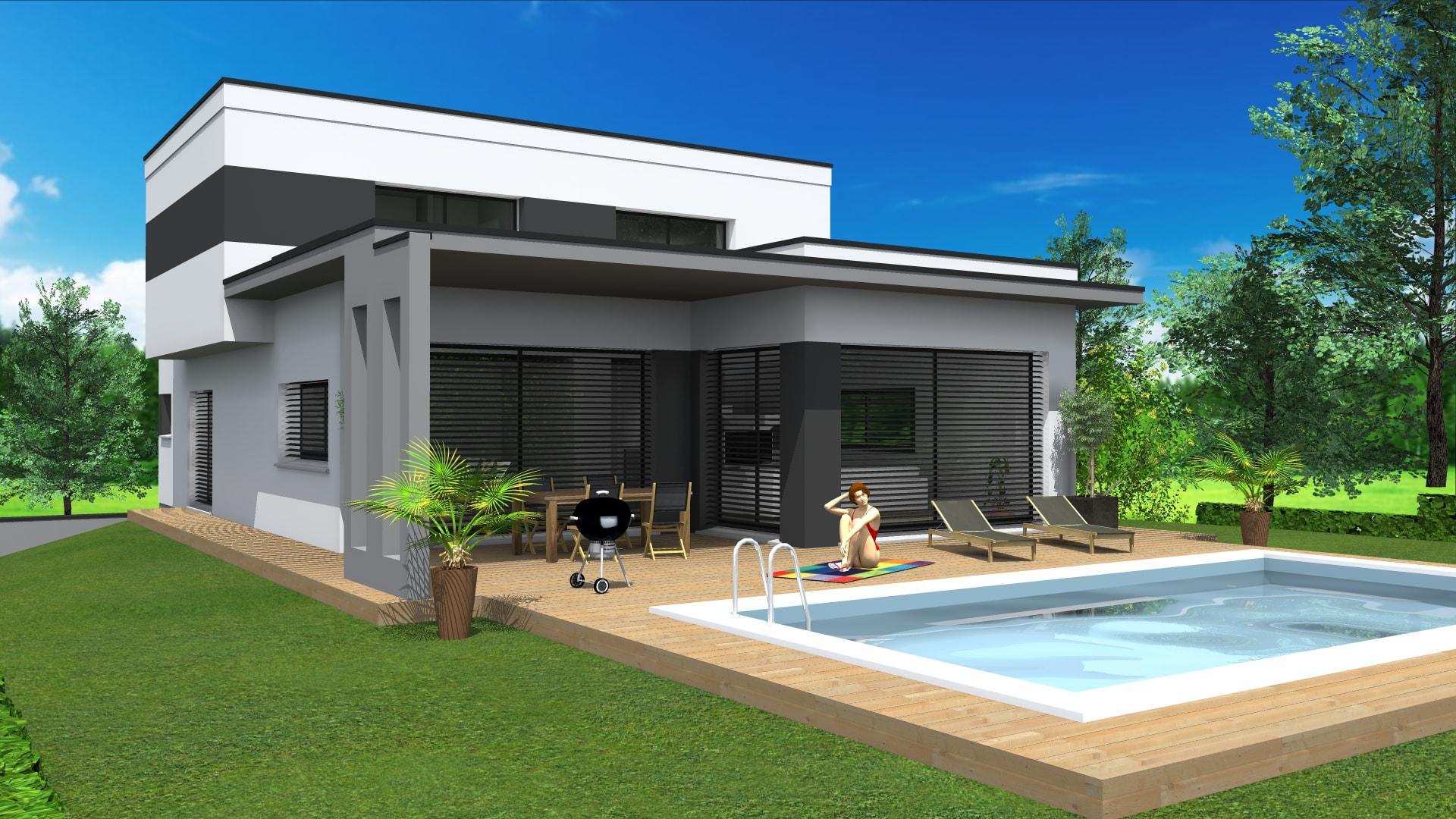 cabinet de maitrise d 39 oeuvre c projet de maison en toit plat sur les hauteurs de thann 68. Black Bedroom Furniture Sets. Home Design Ideas