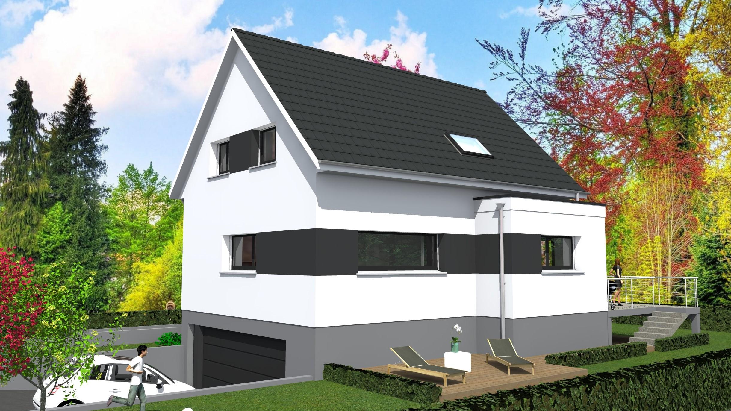 Cabinet de maitrise d 39 oeuvre c maison comtemporaine for Porche de maison en bois