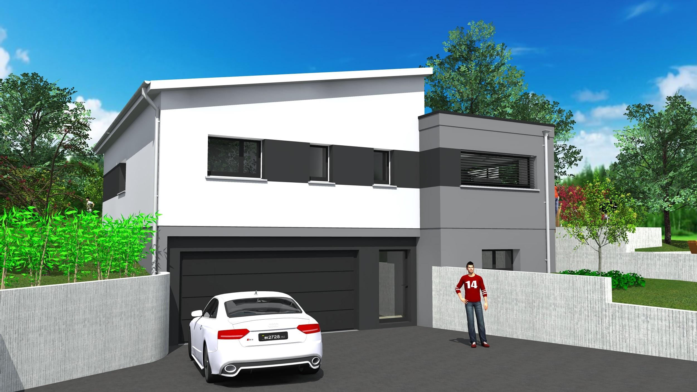 cabinet de maitrise d 39 oeuvre c maisons contemporaine de plain pied multi pans et toit plat. Black Bedroom Furniture Sets. Home Design Ideas