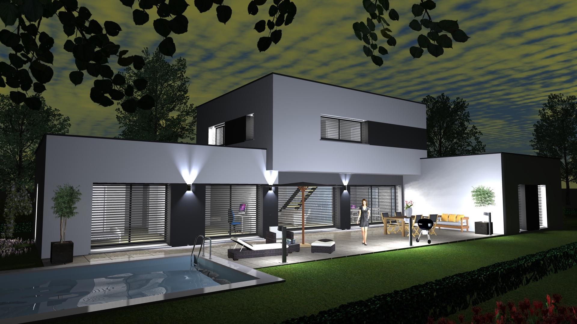 cabinet de maitrise d oeuvre c 178 maison contemporaine toit plat sur hundsbach haut rhin 68 by
