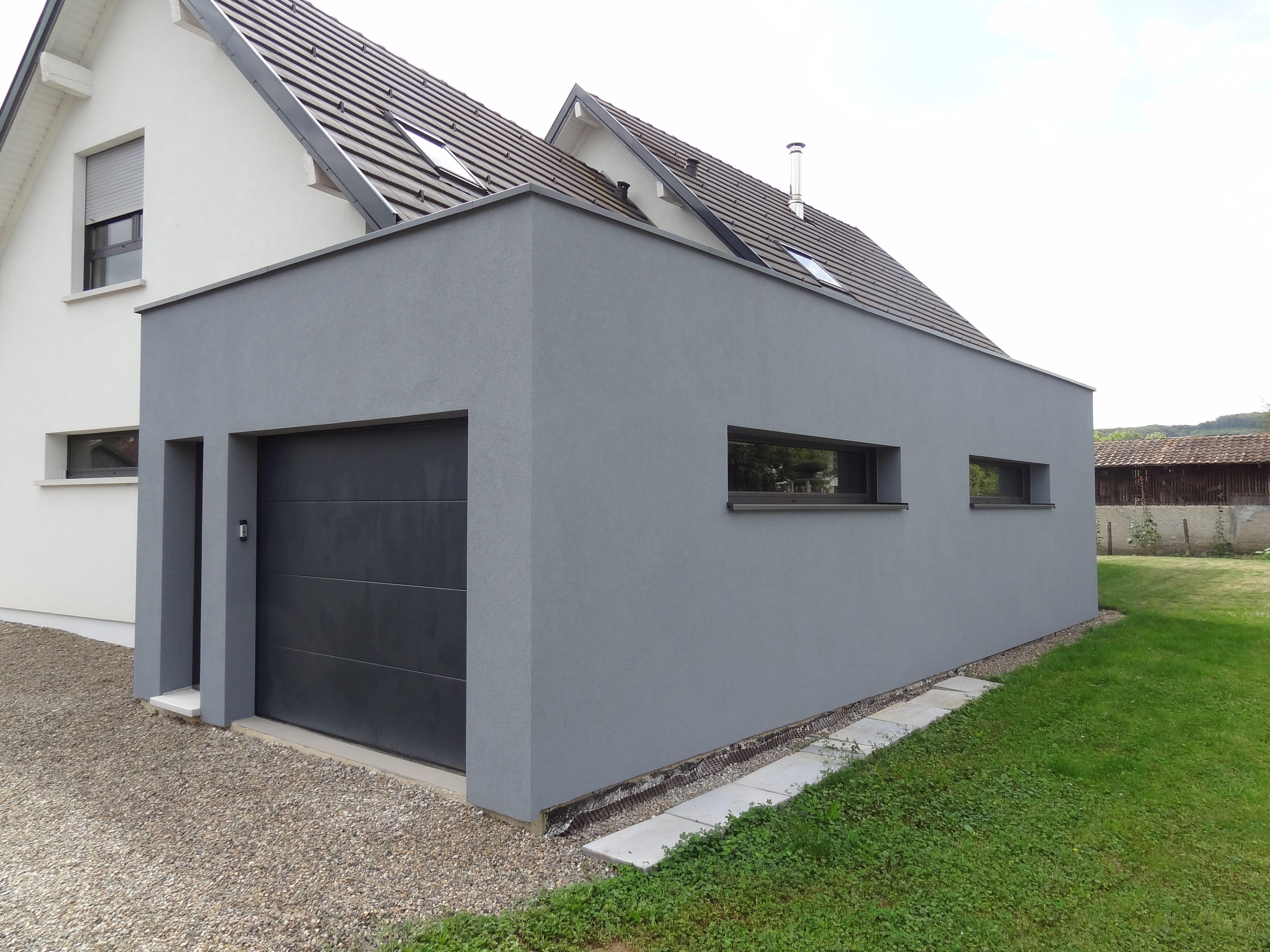 extension maison garage toit plat ventana blog. Black Bedroom Furniture Sets. Home Design Ideas
