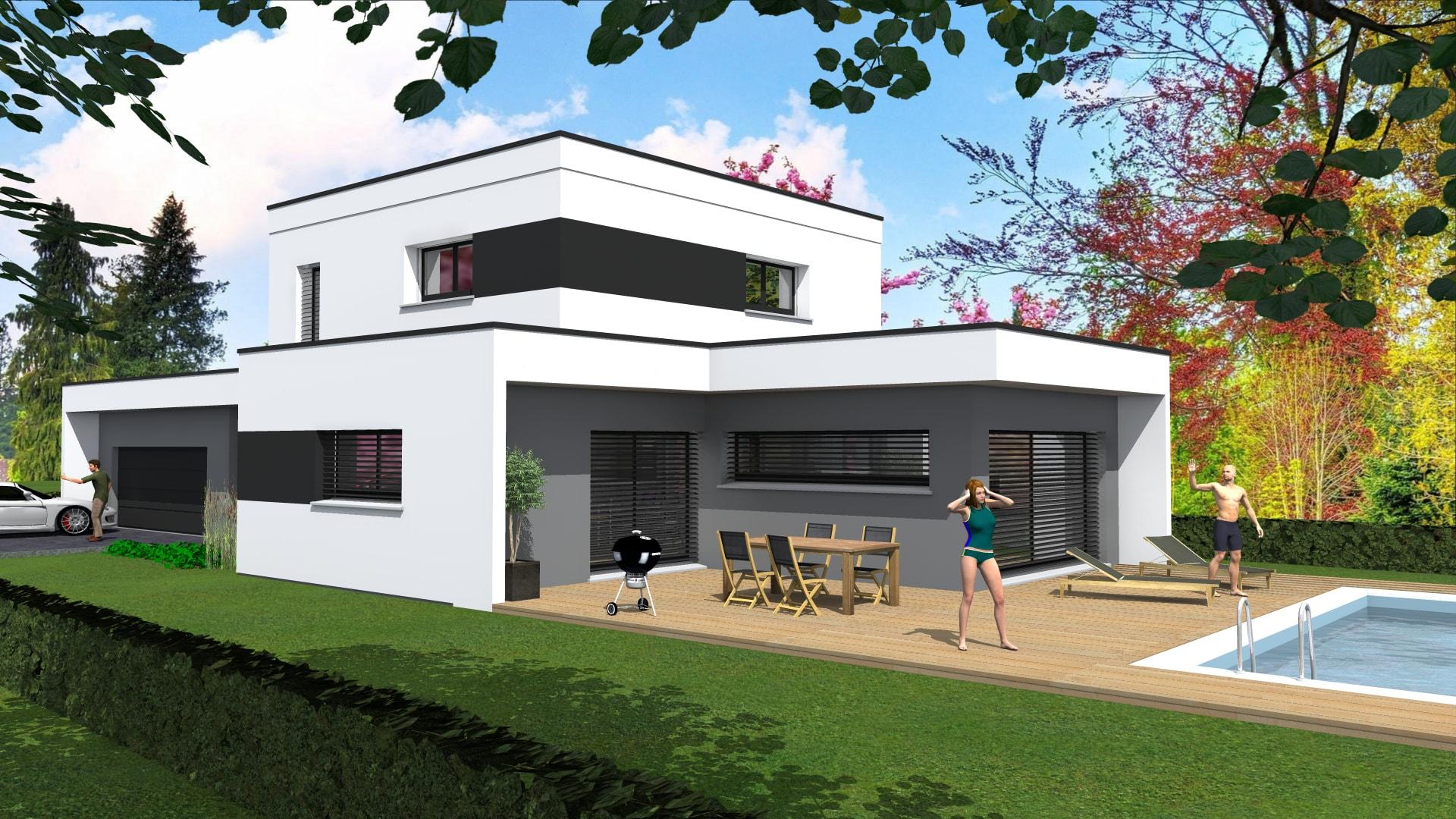 cabinet de maitrise d 39 oeuvre c maison contemporaine en toit plat sur soultz haut rhin 68 by. Black Bedroom Furniture Sets. Home Design Ideas